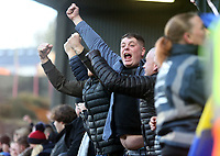 Sheffield Wednesday fan celebrates during Charlton Athletic vs Sheffield Wednesday, Sky Bet EFL Championship Football at The Valley on 30th November 2019