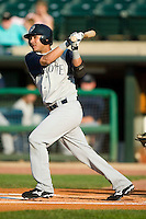 Charlotte Knights shortstop Tomas Perez (9) follows through on his swing versus the Louisville Bats at Louisville Slugger Field in Louisville, KY, Tuesday, June 5, 2007.