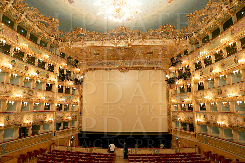 L'interno del Teatro La Fenice a Venezia.<br /> Interior view of La Fenice theater in Venice.<br /> UPDATE IMAGES PRESS/Riccardo De Luca