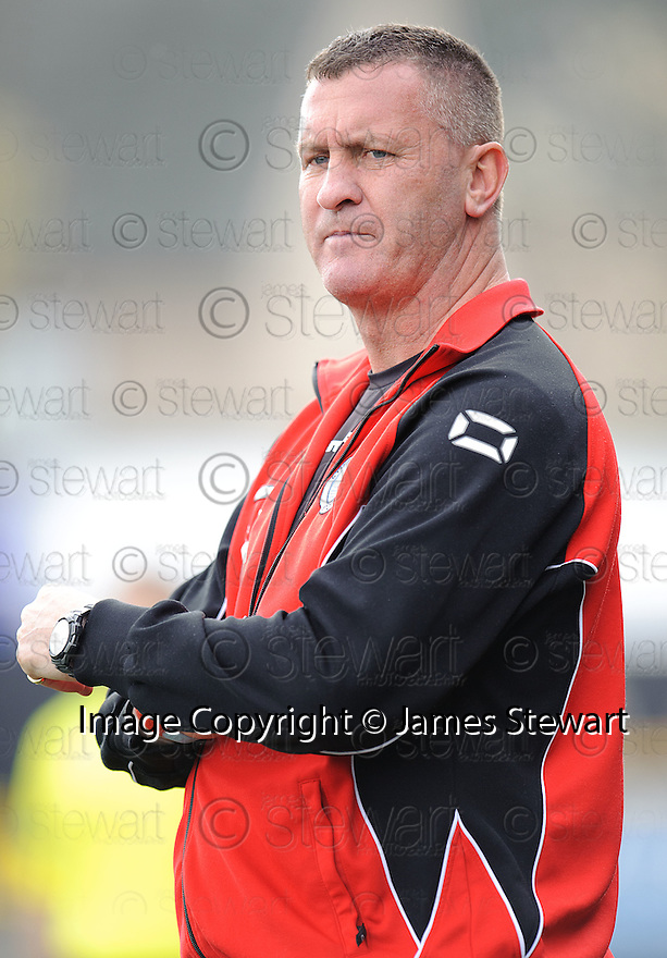 Stranraer boss Keith Knox.