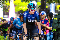 MEDELLIN - COLOMBIA, 15-02-2019: Chris Froome (GBR), Sky, durante la cuarta etapa del Tour Colombia 2.1 2019 con un recorrido de 144 Km, que se corrió con salida y llegada en el estadio Atanasio Girardot de la ciudad de Medellín. / Chris Froome (GBR), Sky, during the four stage of 144 km of Tour Colombia 2.1 2019 that ran with start and arrival in Atanasio Girardot stadium in Medellin city.  Photo: VizzorImage / Anderson Bonilla / Cont