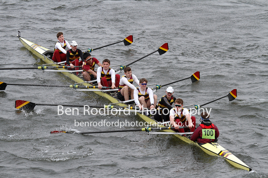 Crew: 100  Shiplake College  Event: School 3rd Eights<br /> <br /> Schools' Head of the River 2017<br /> <br /> To purchase this photo, or to see pricing information for Prints and Downloads, click the blue 'Add to Cart' button at the top-right of the page.