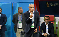 KAZAN - RUSIA, 06-07-2018: TITE técnico de Brasil durante partido de cuartos de final contra de Bélgica por la Copa Mundial de la FIFA Rusia 2018 jugado en el estadio Kazan Arena en Kazán, Rusia. / TITE coach of Brazil during match of quarter final for the FIFA World Cup Russia 2018 played at Kazan Arena stadium in Kazan, Russia. Photo: VizzorImage / Julian Medina / Cont