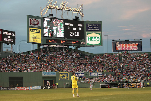 21 JUL 2010:  Fenway Park hosts soccer. Celtic defeated  Sporting Clube de Portugal 6-5 on penalty kicks in an international friendly match, part of the Fenway Football Challenge, at Fenway Park in Boston, Massachusetts on July 21, 2010.