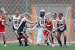 San Diego, CA 05/21/11 - Carissa Fisher (Cathedral Catholic #1),Michaela Guerrera (Coronado #7), Cory Demarco (Coronado #19) and Meganne Weissenfels (Coronado #21) in action during the 2011 CIF San Diego Division 2 Girls lacrosse finals between Cathedral Catholic and Coronado.
