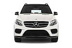 Car photography straight front view of a 2016 Mercedes Benz GLE-Class 5 Door SUV Front View
