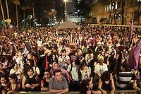 SÃO PAULO, SP - 31.08.2013: 9 MARCHA MUNDIAL DAS MULHERES - Integrantes da 9 Marcha Mundial das Mulheres chegam a Praça da República região central de São Paulo neste sábado (31) , a manifestação que teve início no vão do MASP (Foto: Marcelo Brammer/Brazil Photo Press)