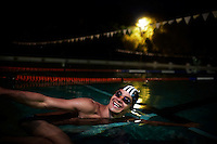 HOWICK, SOUTH AFRICA APRIL 4: Sixteen-year-old swimmer Michael Andrew trains in a pool on April 4, 2015 in Howick, Natal, South Africa. Michael has broken many records already and he is seen as the new Michael Phelps. He turned pro at 14 after signing his first endorsement deal. His father trains Michael and he grew up in the US. His parents emigrated from South Africa and he spent some time in the country in April 2015 to visit his grandparents. (Photo by: Per-Anders Pettersson)