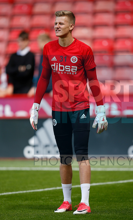 Jake Eastwood of Sheffield Utd during the English Championship League match at Bramall Lane Stadium, Sheffield. Picture date: August 5th 2017. Pic credit should read: Simon Bellis/Sportimage