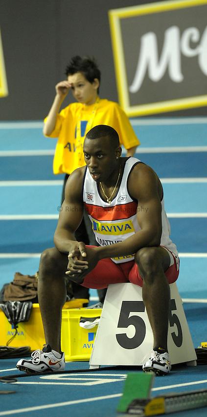 Photo: Ady Kerry / RichardLane Photography.Andrew Matthews 60m Aviva European Trials & UK Championships Athletics, 14/02/2009