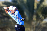 Lorenzo Gagli (ITA) on the 14th tee during the 2nd round of the Abu Dhabi HSBC Championship, Abu Dhabi Golf Club, Abu Dhabi,  United Arab Emirates. 17/01/2020<br /> Picture: Fran Caffrey   Golffile<br /> <br /> <br /> All photo usage must carry mandatory copyright credit (© Golffile   Fran Caffrey)