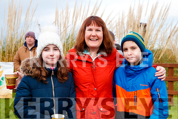 Rachel, Mags and Shane O'Connor, pictured at the Operation Transformation Walk at Tralee Bay Wetlands on Saturday morning last.