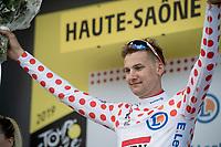 Tim Wellens (BEL/Lotto-Soudal) has surprisingly (even) widened the gap on his closest Polka Dot Jersey / KOM leader competitors <br /> <br /> Stage 6: Mulhouse to La Planche des Belles Filles (157km)<br /> 106th Tour de France 2019 (2.UWT)<br /> <br /> ©kramon