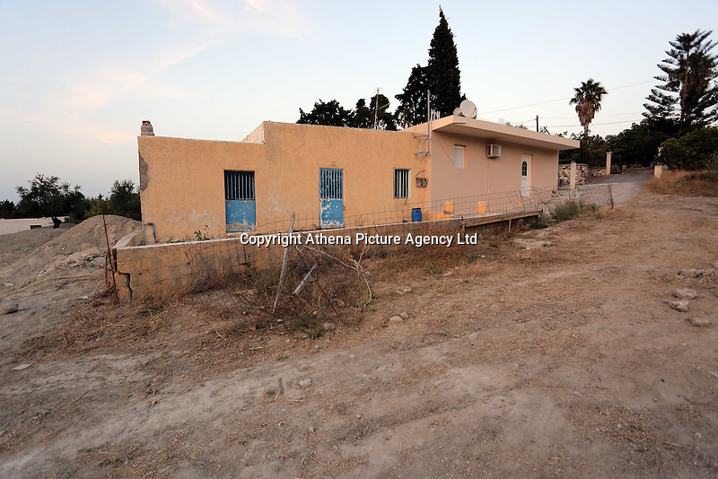 Pictured: The farmhouse site where Ben Needham disappeared from in Kos, Greece. <br />