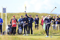 Thomas Plumb  (GB&I) on the 5th during the final day foursomes matches at the Walker Cup, Royal Liverpool Golf Club, Hoylake, Cheshire, England. 08/09/2019.<br /> Picture Fran Caffrey / Golffile.ie<br /> <br /> All photo usage must carry mandatory copyright credit (© Golffile | Fran Caffrey)