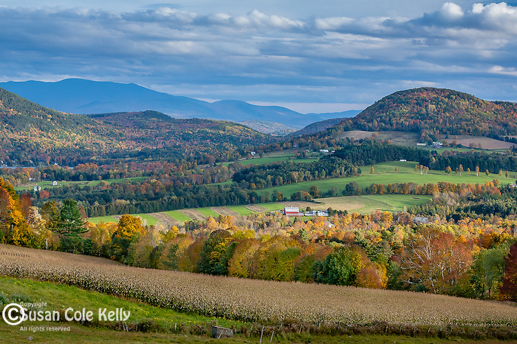 Fall foliage in Peacham, Northeast Kingdom, VT