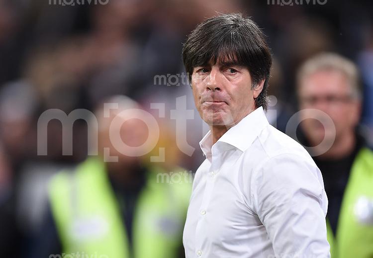 Fussball International EM 2016-Qualifikation  Gruppe D  in Gelsenkirchen 14.10.2014 Deutschland - Irland Bundestrainer Joachim Loew (Deutschland) vor dem Spiel.