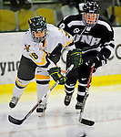 8 February 2009: University of Vermont Catamounts' defenseman Danielle Ramirez, a Senior from Huntington Beach, CA, in action against the University of New Hampshire Wildcats in the second game of a weekend series at Gutterson Fieldhouse in Burlington, Vermont. The Wildcats defeated the lady Catamounts 6-2 to sweep the 2-game series. Mandatory Photo Credit: Ed Wolfstein Photo