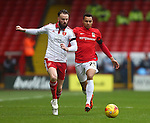 Sheffield United's Josh Brayford and Coventry's Jacob Murphy - Sheffield United vs Coventry City - SkyBet League One - Bramall Lane - Sheffield - 13/12/2015 Pic Philip Oldham/SportImage