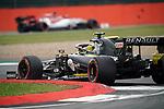 13.07.2019, Silverstone Circuit, Silverstone, FORMULA 1 ROLEX BRITISH GRAND PRIX 2019<br /> , im Bild<br />Kimi Raikkonen (FIN#7), Alfa Romeo Racing, Nico Hülkenberg (GER#27), Renault F1 Team<br /> <br /> Foto © nordphoto / Bratic