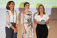 Spanish queen Letizia and General Secretariat of Industry and Dean of  ISEM Fashion Bussiness School de la Universidad de Navarra, Teresa Sádaba Garrazaduring delivery spanish fashion national awards 2016 in the Museum of Costume in Madrid. July 21, 2016. (ALTERPHOTOS/Rodrigo Jimenez) /NORTEPHOTO.COM