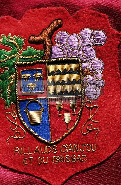 Europe/France/Pays de la Loire/49/Maine-et-Loire/Brissac: Le marquis - Armoiries de la confrérie du vin AOC Anjou Village Brissac