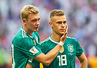 Germany - South Korea, Soccer, Kazan, June 27, 2018 Joshua KIMMICH, DFB 18 Julian BRANDT, DFB 20 sad, disappointed, angry, Emotions, disappointment, frustration, frustrated, sadness, desperate, despair, GERMANY - KOREA REPUBLIC FIFA World Cup WM Weltmeisterschaft Fussball 2018 RUSSIA, Group F, Season 2018/2019, June 27, 2018 Stadium K a z a n - A r e n a in Kazan, Russia. Photo: MAGICS / Peter Schatz  <br /> Kazan 27-06-2018 Football FIFA World Cup Russia  2018 <br /> South Korea - Germany / Corea del Sud - Germania<br /> Foto Imago/Insidefoto