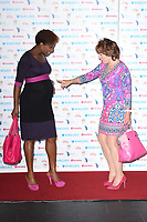 Denise Lewis and Kathy Lette<br /> arriving for the Women of the Year Awards 2018 and the Hotel Intercontinental London<br /> <br /> ©Ash Knotek  D3443  15/10/2018