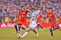 Action photo duringthe match Argentina vs Chile corresponding to the Final of America Cup Centenary 2016, at MetLife Stadium.<br /> <br /> Foto durante al partido Argentina vs Chile cprresponidente a la Final de la Copa America Centenario USA 2016 en el Estadio MetLife , en la foto:Ever Banega de Argentina<br /> <br /> 26/06/2016/MEXSPORT/ISAAC ORTIZ