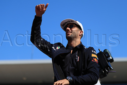 22nd October 2017, Circuit of the Americas, Austin, USA; American Formula One Grand Prix, Race Day; Daniel Ricciardo - Red Bull Racing