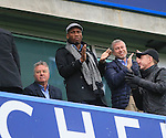 Chelsea's Roman Abramovich celebrates his sides second goal with Didier Drogba and Guus Hiddink<br /> <br /> Barclays Premier League- Chelsea vs Sunderland - Stamford Bridge - England - 19th December 2015 - Picture David Klein/Sportimage