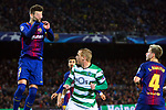 UEFA Champions League 2017/2018 - Matchday 6.<br /> FC Barcelona vs Sporting Clube de Portugal: 2-0.<br /> Gerard Pique vs Jeremy Mathieu.