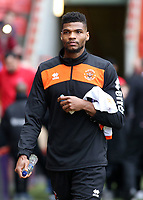 Blackpool's Michael Nottingham heads to the bench before kick off<br /> <br /> Photographer David Shipman/CameraSport<br /> <br /> The EFL Sky Bet League One - Charlton Athletic v Blackpool - Saturday 16th February 2019 - The Valley - London<br /> <br /> World Copyright © 2019 CameraSport. All rights reserved. 43 Linden Ave. Countesthorpe. Leicester. England. LE8 5PG - Tel: +44 (0) 116 277 4147 - admin@camerasport.com - www.camerasport.com