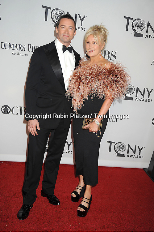 Hugh Jackman and wife Deborah Lee Furness attends th 66th Annual Tony Awards on June 10, 2012 at The Beacon Theatre in New York City.