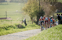Bob JUNGELS (LUX/Deceuninck-Quick Step) up the Paterberg<br /> <br /> 62nd E3 BinckBank Classic (Harelbeke) 2019 <br /> One day race (1.UWT) from Harelbeke to Harelbeke (204km)<br /> <br /> ©kramon