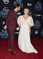LOS ANGELES, CA - NOVEMBER 29: John Krasinski and Emily Blunt attend the Premiere Of Disney's 'Mary Poppins Returns' at El Capitan Theatre on November 29, 2018 in Los Angeles, California.<br /> CAP/ROT/TM<br /> &copy;TM/ROT/Capital Pictures