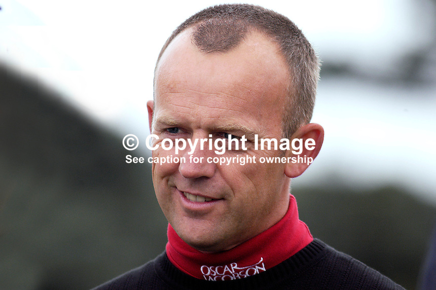Jamie Spence, professional golfer, England. Taken at Nissan Irish Open, Portmarnock Golf Club, Ireland, in July 2003. Ref: 200307232571...Copyright Image from Victor Patterson, 54 Dorchester Park, Belfast, UK, BT9 6RJ..Tel: +44 28 9066 1296.Mob: +44 7802 353836.Voicemail +44 20 8816 7153.Skype: victorpattersonbelfast.Email: victorpatterson@mac.com.Email: victorpatterson@ireland.com (back-up)..IMPORTANT: If you wish to use this image or any other of my images please go to www.victorpatterson.com and click on the Terms & Conditions. Then contact me by email or phone with the reference number(s) of the image(s) concerned.