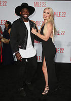 "WESTWOOD, CA - AUGUST 9: PK Subban, Lindsey Vonn, at Premiere Of STX Films' ""Mile 22"" at The Regency Village Theatre in Westwood, California on August 9, 2018. Credit: Faye Sadou/MediaPunch"
