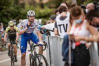 post-race interviewing in Covid19 times with Kasper Asgreen (DEN/Deceuninck - QuickStep)<br /> <br /> Stage 1: Clermont-Ferrand to Saint-Christo-en-Jarez (218km)<br /> 72st Critérium du Dauphiné 2020 (2.UWT)<br /> <br /> ©kramon