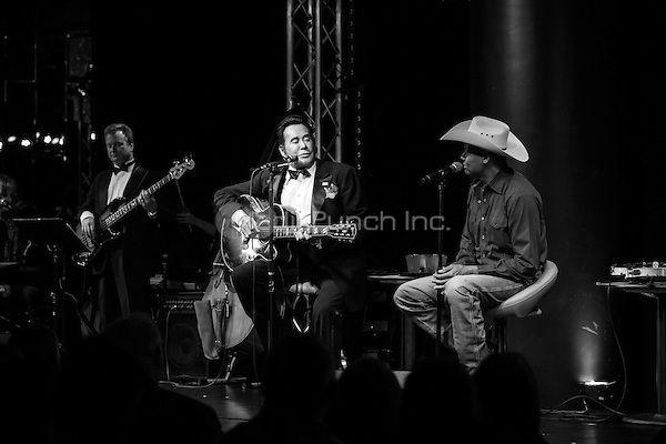 LAS VEGAS, NV - May 11, 2016: ***HOUSE COVERAGE*** Wayne Newton and Neal McCoy pictured performing during 'Wayne Newton: Up Close and Personal' at the Windows Showroom at Bally's Las Vegas in Las vegas, NV on May 11, 2016. Credit: Erik Kabik Photography/ MediaPunch
