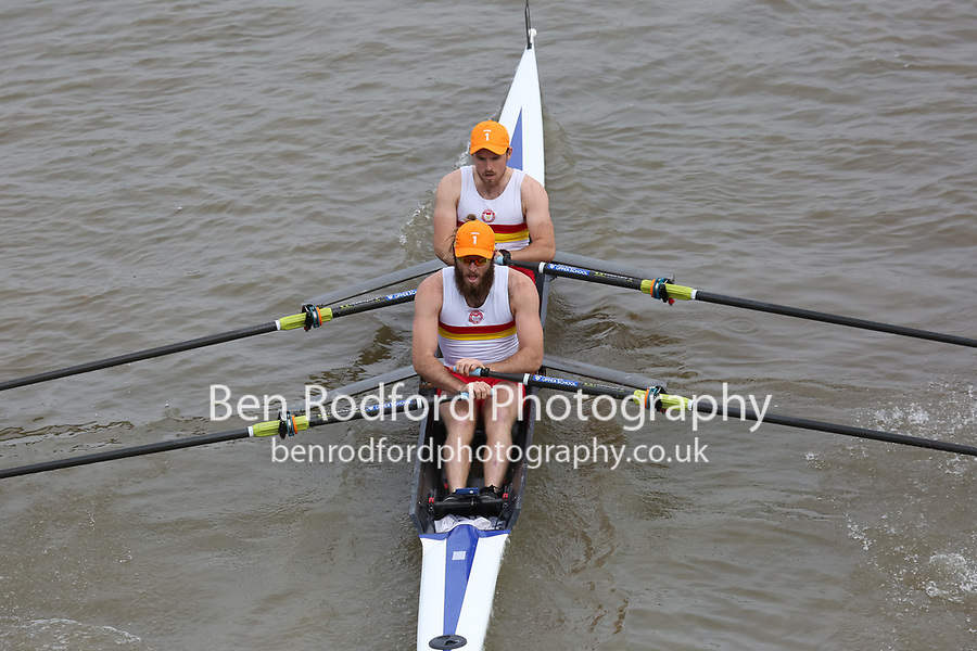 Crew: 2   TSS-TIERNEY    Tideway Scullers School    Op 2x Champ <br /> <br /> Pairs Head 2017<br /> <br /> To purchase this photo, or to see pricing information for Prints and Downloads, click the blue 'Add to Cart' button at the top-right of the page.