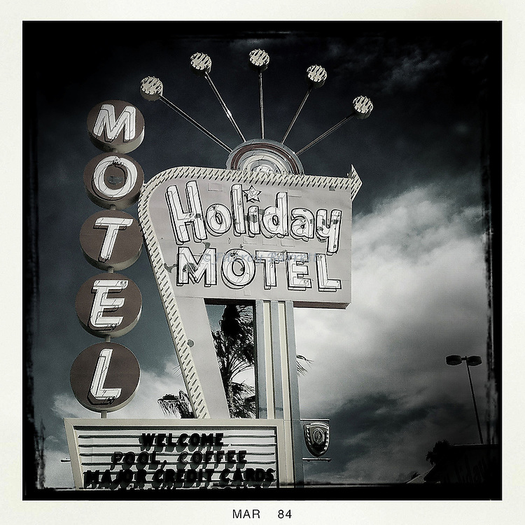Holiday Motel Sign on the Las Vegas Strip March 26, 2014. ©Fitzroy Barrett