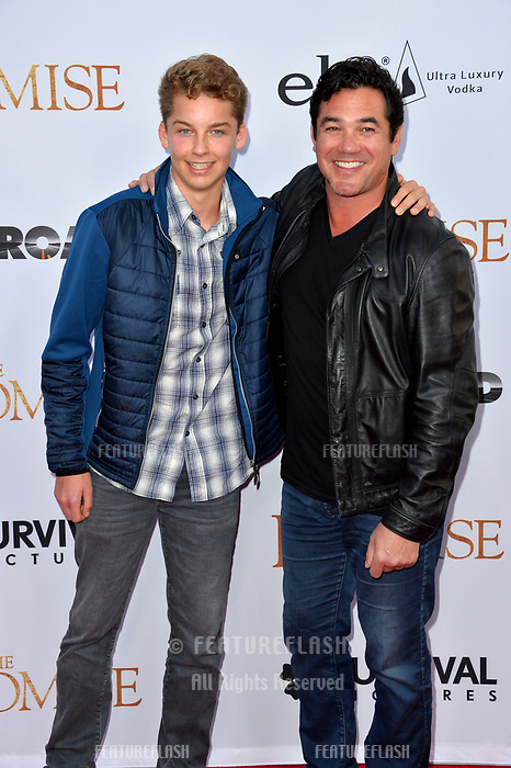 Dean Cain &amp; Christopher Dean Cain at the premiere for &quot;The Promise&quot; at the TCL Chinese Theatre, Hollywood. Los Angeles, USA 12 April  2017<br /> Picture: Paul Smith/Featureflash/SilverHub 0208 004 5359 sales@silverhubmedia.com