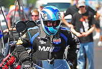 Apr. 15, 2012; Concord, NC, USA: NHRA top fuel dragster driver Brandon Bernstein during the Four Wide Nationals at zMax Dragway. Mandatory Credit: Mark J. Rebilas-