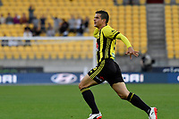 Wellington Phoenix&rsquo; Andrija Kaluderovic in action during the A League - Wellington Phoenix v Brisbane Roar FC at Westpac Stadium, Wellington, New Zealand on Saturday 28 October.<br /> Photo by Masanori Udagawa. <br /> www.photowellington.photoshelter.com