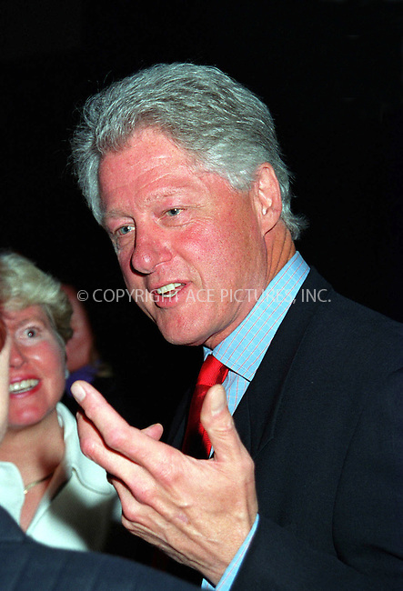 *WORLD RIGHTS*  President Bill Clinton .pictured here being honored at Pro-Choice tribute .luncheon held at Ciprianis' by the NARAL.  .New York.  22 April   2002   Ref: AJ1115.Please Byline AJ Sokalner/Big Pictures USA
