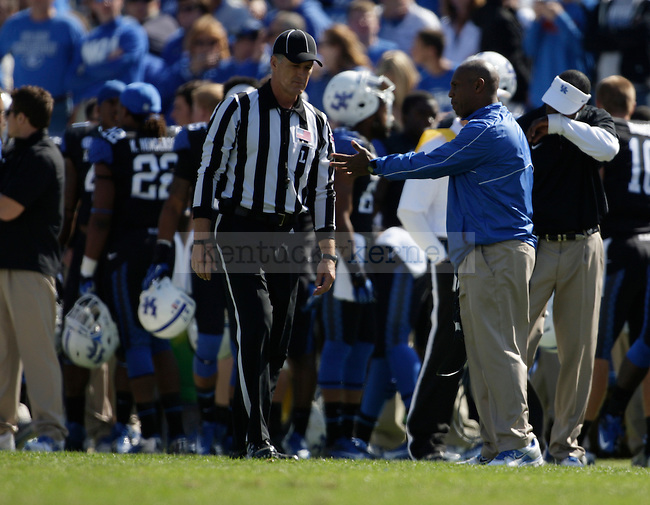 Kentucky Wildcats head coach Joker Phillips during the second half of the University of Kentucky vs. Mississippi State football game at Commonwealth Stadium in Lexington, Ky., on Saturday, October 6, 2012. Photo by Tessa Lighty | Staff