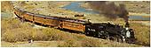 K-28 #478 pulling eastbound passenger train back to Durango.<br /> D&amp;RGW  Silverton, CO  Taken by Petley, Bob