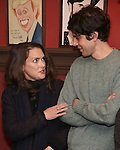 Winona Ryder and friend attends the unveiling of the Kenneth Lonergan caricature at Sardi's on February 17, 2017 in New York City.