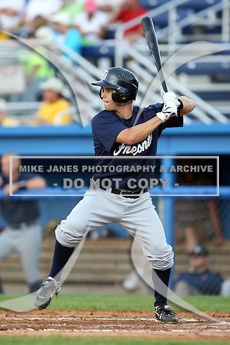 July 23 2008:  Second baseman Mike Gosse of the Oneonta Tigers, Class-A affiliate of the Detroit Tigers, during a game at Dwyer Stadium in Batavia, NY.  Photo by:  Mike Janes/Four Seam Images